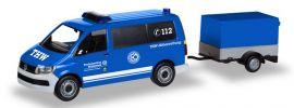 herpa 093668 VW T6 Bus mit Anhänger THW Korbach Höhenrettung Blaulichtmodell 1:87 online kaufen