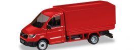 herpa 093712 MAN TGE Einfachkabine mit Pritsche und Plane Automodell 1:87 online kaufen