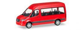 herpa 093804 Mercedes-Benz Sprinter 2018 Bus Hochdach rot Automodell 1:87 online kaufen