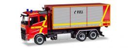 herpa 094023 Volvo FH Flachdach Abrollcontainer-LKW Feuerwehr Furth im Wald Blaulichtmodell 1:87 online kaufen