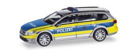 herpa 094030 VW Passat Variant B8 GTE E-Hybrid Polizei Wolfsburg Blaulichtmodell 1:87 online kaufen