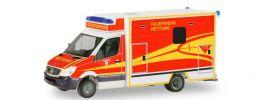 herpa 094214 Mercedes-Benz Sprinter Fahrtec RTW Feuerwehr Ingolstadt Blaulichtmodell 1:87 online kaufen