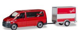 herpa 094290 VW T6 Bus mit Kofferanhänger Herpa Automodell 1:87 online kaufen