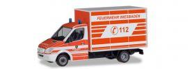 herpa 094511 Merdedes-Benz Sprinter Kofferaufbau Feuerwehr Wiesbaden Blaulichtmodell 1:87 online kaufen