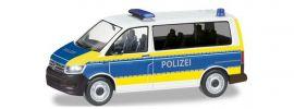 herpa 094672 VW T6 Bus Polizei Brandenburg Blaulichtmodell Spur H0 online kaufen