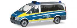 herpa 094726 Mercedes-Benz Vito Polizei Saarland Blaulichtmodell Spur H0 online kaufen