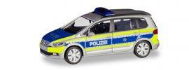 herpa 094887 VW Touran Polizei Nordrhein-Westfalen Blaulichtmodell 1:87 online kaufen