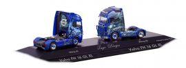 herpa 110969 Volvo FH GL XL Solozugmaschinen Ingo Dinges 2 Stück LKW-Modell 1:87 online kaufen