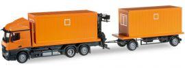 herpa 304313 MB A StSp RuHzg mit 2 Containern LKW-Modell 1:87 online kaufen