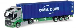 herpa 305440 Volvo FH 16 GL ContainerSzg EKB Container Logistik LKW-Modell 1:87 online kaufen