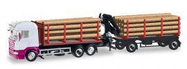 herpa 307383 Scania R HL Holztransport-Hängerzug unbedruckt LKW-Modell 1:87 online kaufen
