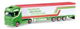 herpa 307604 Scania CS20 HD V8 Schubbodensattelzug Urs Bühler LKW-Modell 1:87 online kaufen