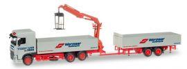 herpa 307819 DAF XF SC Pritschenhängerzug mit Ladekran Spedition Wormser LKW-Modell 1:87 online kaufen