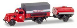 herpa 307956 Ford V3000 PlanenLKW mit Anhänger  Feuerwehr Blaulichtmodell 1:87 online kaufen