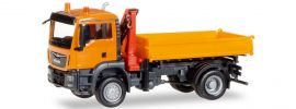 herpa 308267 MAN TGS M Kipper mit Kran orange | LKW-Modell 1:87 online kaufen