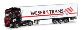 herpa 309042 Scania CS20 HD Kühlkoffersattelzug Weser Trans LKW-Modell 1:87 online kaufen