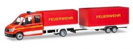 herpa 093866 MAN TGE Doppelkabine mit Anhänger Feuerwehr neutral Blaulichtmodell 1:87 online kaufen
