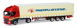 herpa 309516 Iveco Stralis Highway XP Gardinenplanensattelzug Multipli Arcese LKW-Modell 1:87 online kaufen