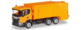 herpa 309837 Scania CG17 Pressmüllwagen orange LKW-Modell 1:87 online kaufen
