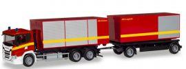 herpa 310017 Scania CG17 AbrollContainer-Hängerzug Feuerwehr neutral Blaulichtmodell 1:87 online kaufen