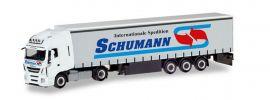 herpa 310048 Iveco Stralis XP Gardinenplanensattelzug Schumann LKW-Modell 1:87 online kaufen