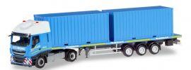 herpa 310093 Iveco Stralis XP FlachbettSattelzug mit Containern Felbermayr LKW-Modell 1:87 online kaufen