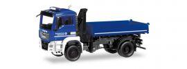 herpa 310307 MAN TGS M Dreiseitenkipper mit Ladekran THW Blaulichtmodell 1:87 online kaufen