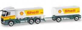 herpa 310437 Mercedes-Benz Actros Streamspace Benzintankhängerzug Shell LKW-Modell 1:87 online kaufen