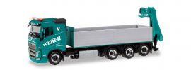 herpa 310475 Volvo FH Pritschen-LKW mit Ladekran Weber Betonpumpen LKW-Modell 1:87 online kaufen