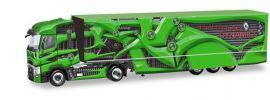 herpa 310796-002 Renault T High Roof Koffersattelzug Tour de Dynamics PR-Truck grün LKW-Modell 1:87 online kaufen