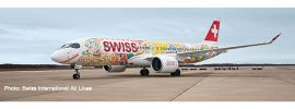 herpa 559935 Airbus A220-300 Swiss International Airlines Fete des Vignerons Flugzeugmodell 1:200 online kaufen