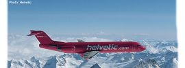 herpa 559966 Fokker 100 Helvetic Flugzeugmodell 1:200 online kaufen