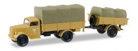 herpa 745291 Opel Blitz Planen-LKW mit Hänger Afrika Korps Militärmodell 1:87 online kaufen