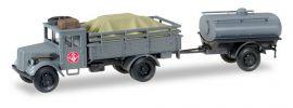 herpa 745628 Opel 3000 mit Ladung u Tankanhänger Fernmeldekompanie JG1 Militärmodell 1:87 online kaufen