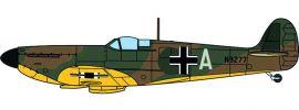 OXFORD 81AC086S Supermarine Spitfire MK.I, Luftwaffe Beuteflugzeug Miniaturmodell 1:72 online kaufen