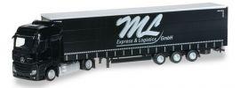 herpa 919814 Mercedes-Benz Actros Bigspace JuGaPlSzg ML Express und Logistic LKW-Modell 1/87 online kaufen