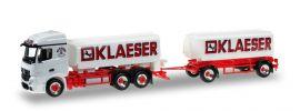 herpa 920452 Mercedes-Benz Actros Streamspace Benzintank-Hängerzug Klaeser LKW-Modell 1:87 online kaufen