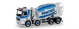 ausverkauft | herpa 920865 Mercedes-Benz Actros Betonmischer Peintner LKW-Modell 1:87 online kaufen