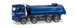 herpa 922258 MAN TGS M Euro6  8x4 Rundmulden Kipper blau LKW-Modell 1:87 online kaufen