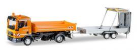 herpa 924016 MAN TGL Euro6 3-Seitenkipper mit Verkehrssicherungsanhänger kommunalorange LKW-Modell 1:87 online kaufen
