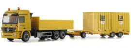 herpa 926065 Mercedes-Benz  Actros 08 Bau-Hängerzug mit Container | Leonhard Weiss | 1:87 online kaufen