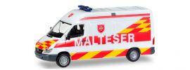 """herpa 927703 Mercedes-Benz Sprinter Halbbus """"Malteser Wien"""" Blaulichtmodell 1:87 online kaufen"""