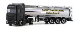herpa 932684 Scania CS20 HD Chromtanksattelzug Sven Brandt Transporte LKW-Modell 1:87 online kaufen