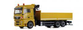 herpa 933605 MAN TGX XLX Pritschen-LKW mit Ladekran Leonhard Weiss LKW-Modell 1:87 online kaufen