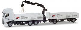 herpa 935418 DAF XF SC Euro6c Baustoffhängerzug mit Ladekran LTG LKW-Modell 1:87 online kaufen