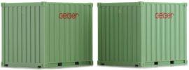 herpa 936279 10ft.Container  GEIGER  2 Stück Zubehör 1:87 online kaufen