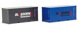 herpa 940207 Container 20ft Bloedorn 2 Stück LKW-Zubehör 1:87 online kaufen
