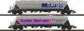 HOBBYTRAIN H23466 Schüttgutwagen-Set 2-tlg. Tagnpps Zucker SBB Cargo | Spur N online kaufen