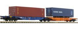 HOBBYTRAIN H23750-7 Containerwagen Sdggmrs 744 Gold/Kühne+Nagel DB AG | Spur N online kaufen