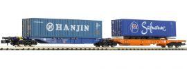 HOBBYTRAIN H23750-8 Containerwagen Sdggmrs 744 Hanjin/Safmarine DB AG | Spur N online kaufen